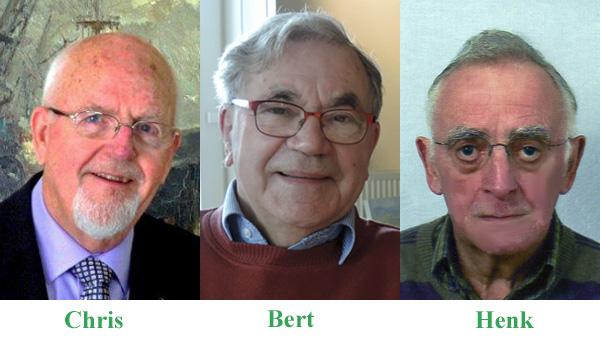 Foto van Chris, Bert en Henk